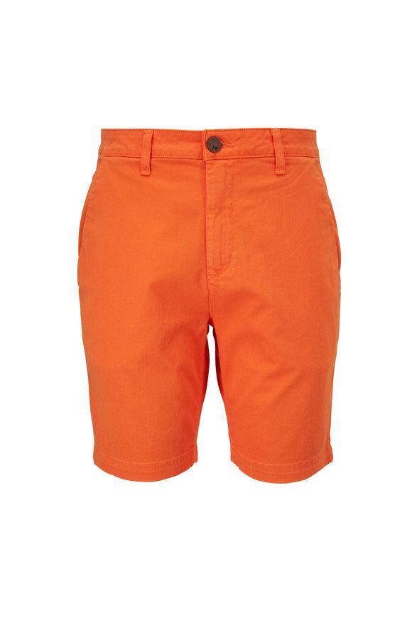 Monfrere Oahu Orange Stretch Cotton Shorts