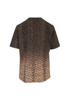Saint Laurent - Beige & Black Leopard Print T-Shirt