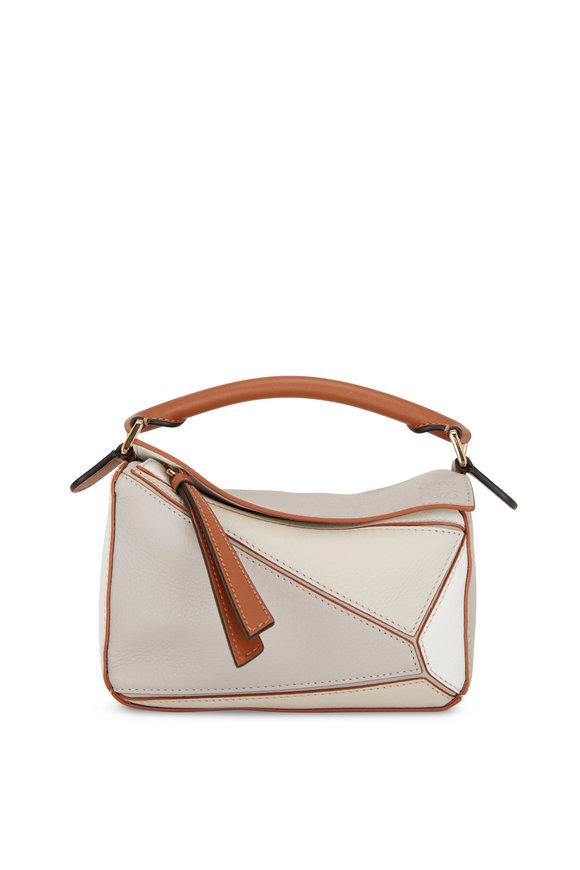 Loewe Puzzle Soft White Leather Mini Bag