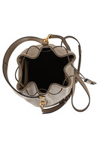 Prada - Gray Grained Leather Bucket Bag