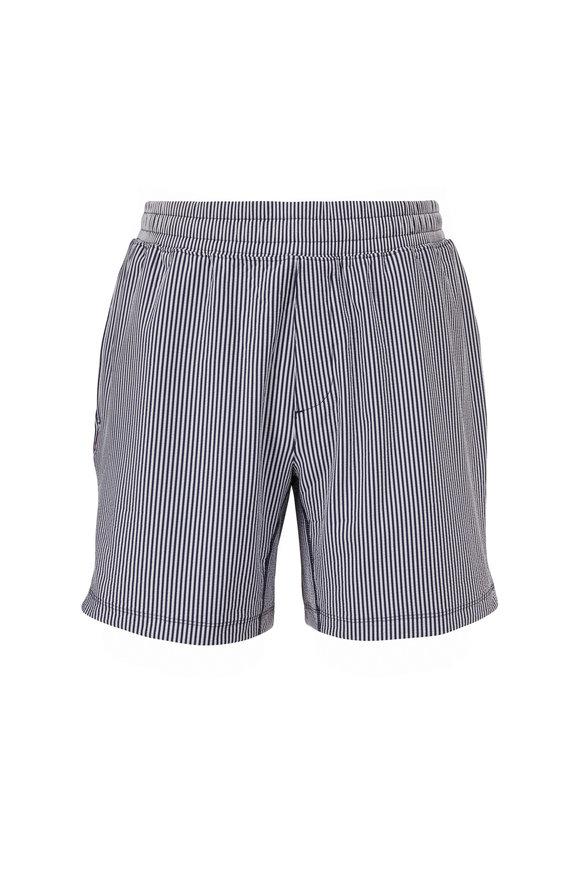 Rhone Apparel Mako Navy Stripe Seersucker Shorts