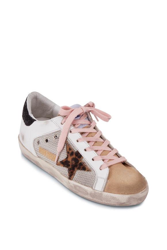 Golden Goose Superstar Leopard Star & Black Glitter Sneaker