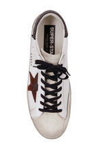 Golden Goose - Super Star White Leather & Brown Star Sneaker