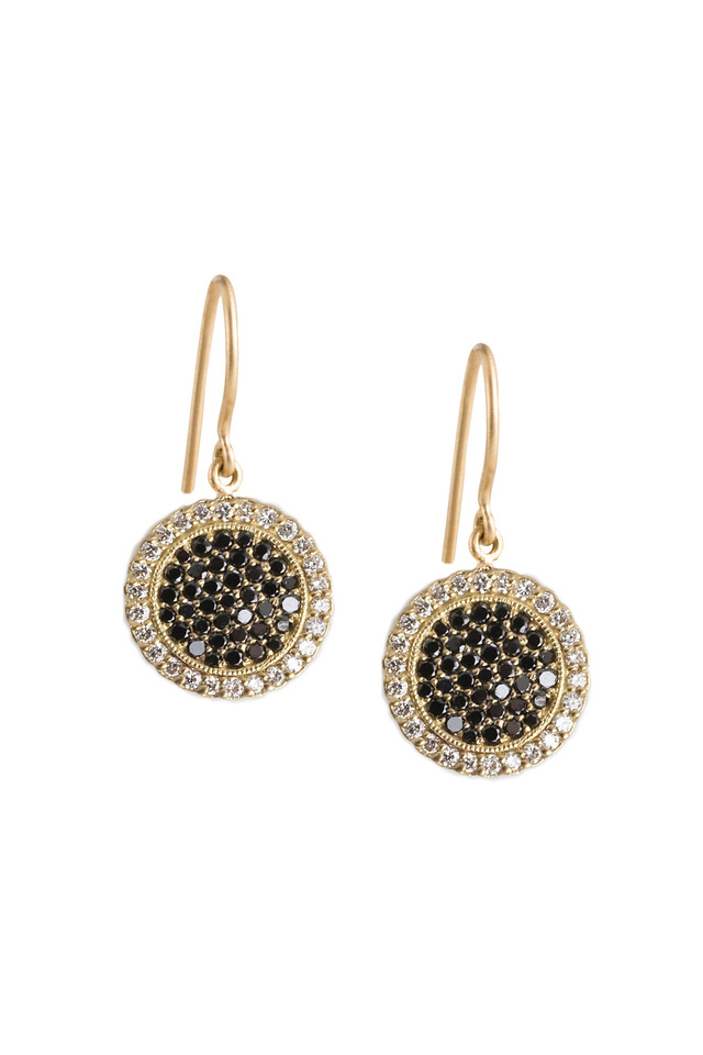 Black & White Diamond Gold Earrings