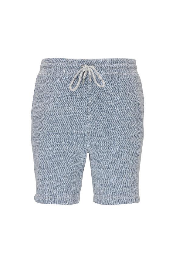 Faherty Brand Whitewater White Jacquard Sweat Shorts