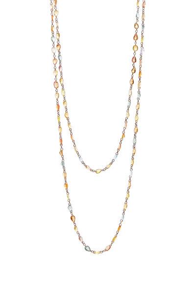Cairo - Yellow Gold Multicolor Sapphire Chain Necklace