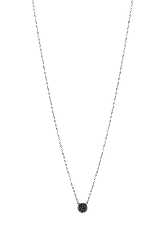 Cairo White & Black Diamond Small Double Sided Necklace