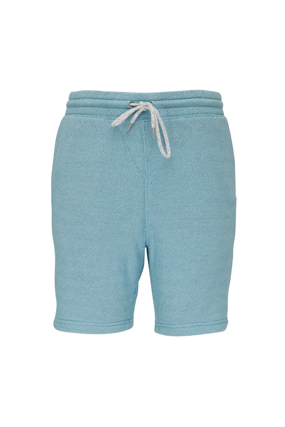 Faherty Brand Whitewater Teal Sweat Short