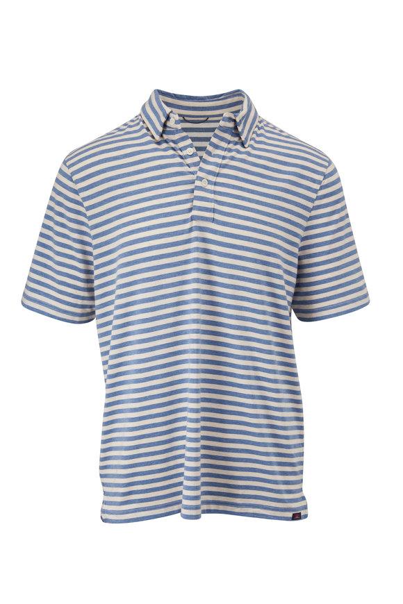 Faherty Brand Movement Twilight Blue Stripe Polo