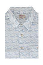 Faherty Brand - Playa Blue Waves Print Short Sleeve Shirt