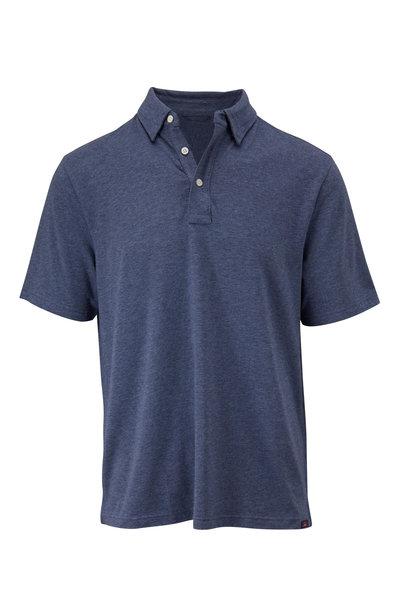 Faherty Brand - Movement Navy Short Sleeve Polo