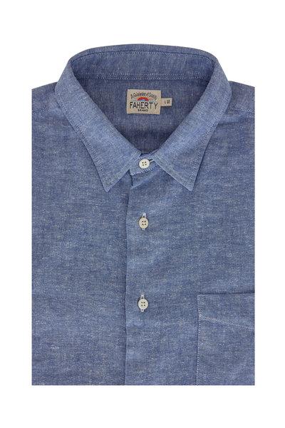 Faherty Brand - Breeze Ultramarine Chambray Button Down Shirt