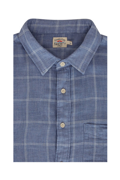 Faherty Brand - Blue Check Double Cloth Shirt