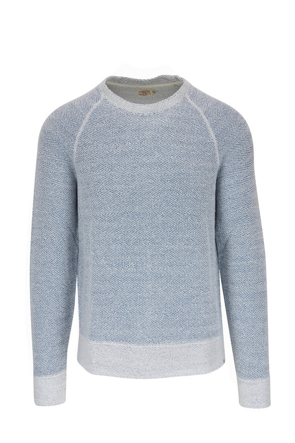 Faherty Brand Whitewater Blue Crew Sweater