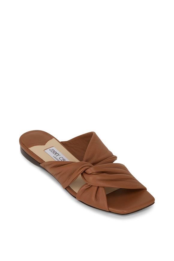 Jimmy Choo Narisa Cuoio Napa Leather Flat Slide
