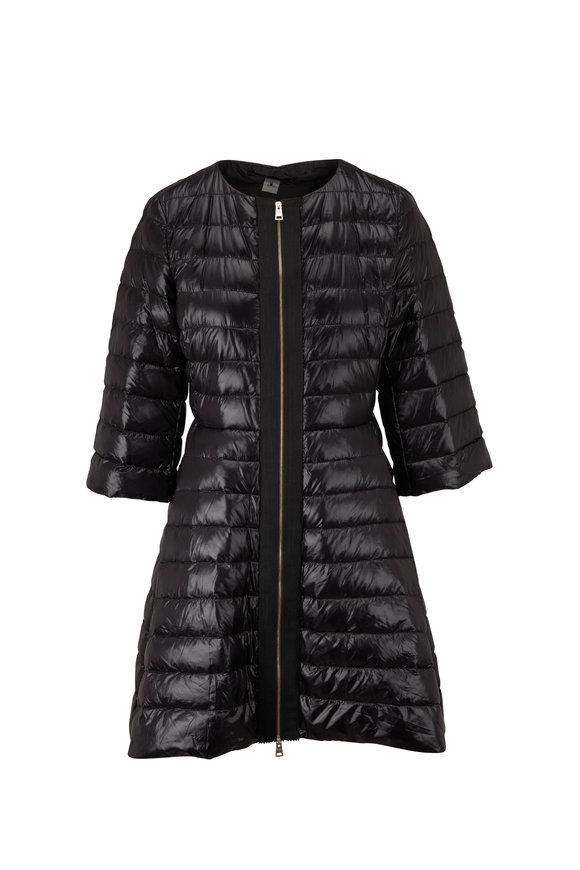 Herno Classic Black Three Quarter Sleeve Puffer Coat