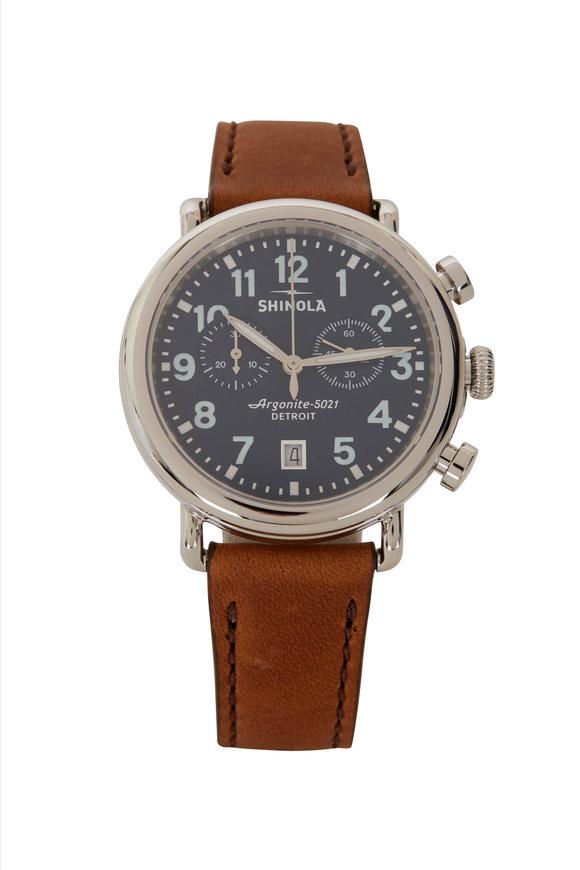 Shinola Runwell Midnight & Brown Chrono Watch, 41mm