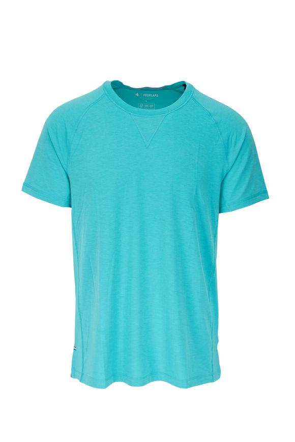 Fourlaps Level Ocean Blue Tech T-Shirt