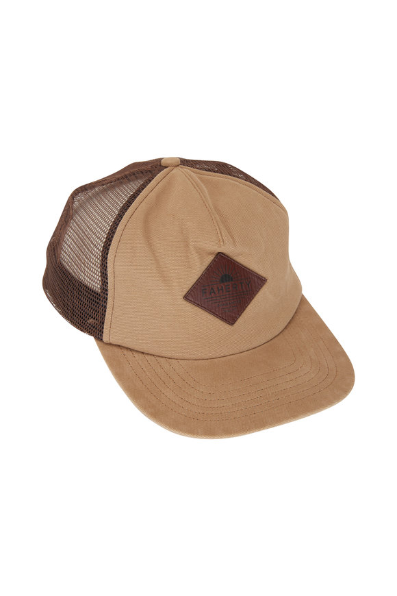 Faherty Brand Timber Washed Logo Trucker Hat