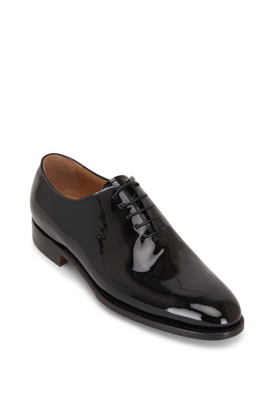 Kiton - Black Patent Leather Lace-Up Dress Shoe