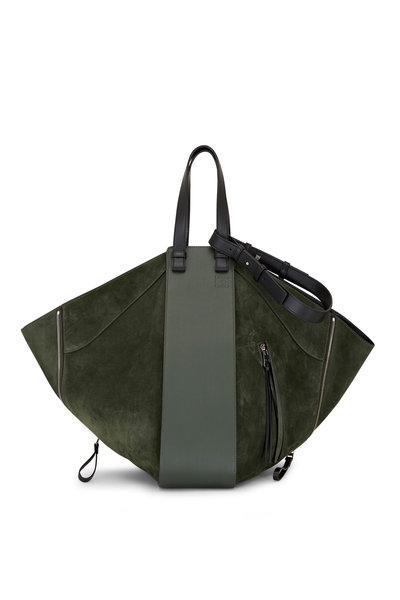 Loewe - Hammock Khaki Suede & Leather Tote Hobo Bag