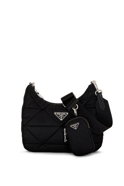 Prada - Black Padded Quilted Shoulder Bag