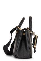Prada - Black Zip Pouch Leather Crossbody