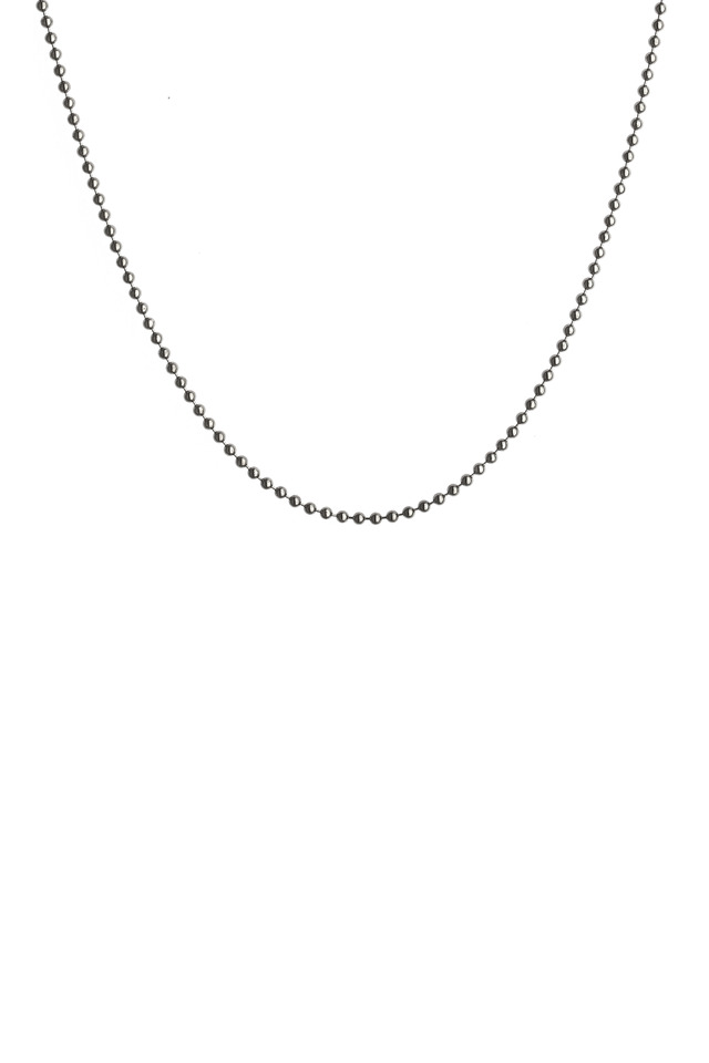 Blackened Sterling Silver Ball Chain Necklace