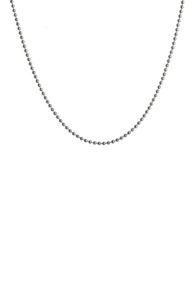 Syna - Blackened Sterling Silver Ball Chain Necklace