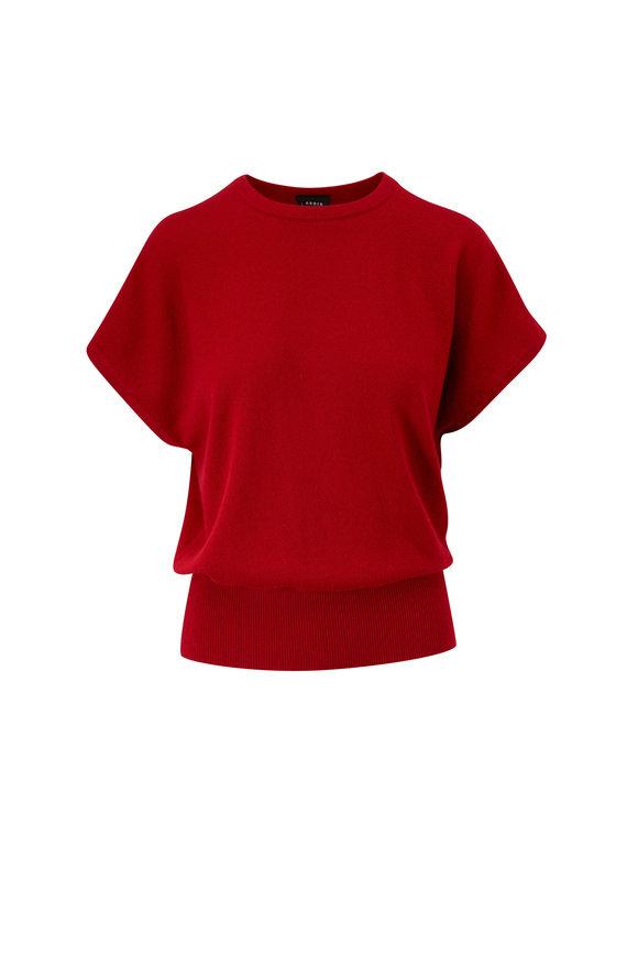 Akris Cadmium Red Cashmere Pullover