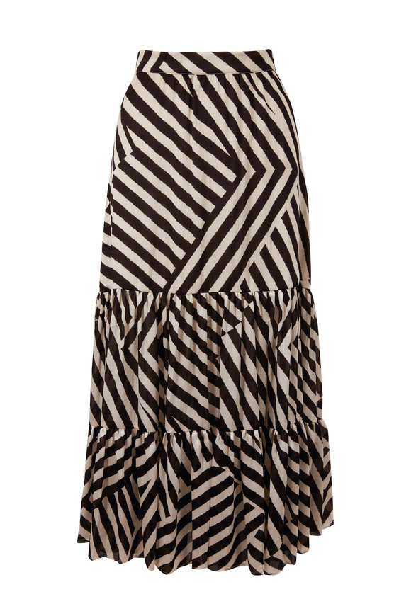 Sachin + Babi Miranda Black & Ivory Stripe Skirt