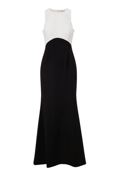 Sachin + Babi - Cherish Black & Ivory Stretch Crepe Gown