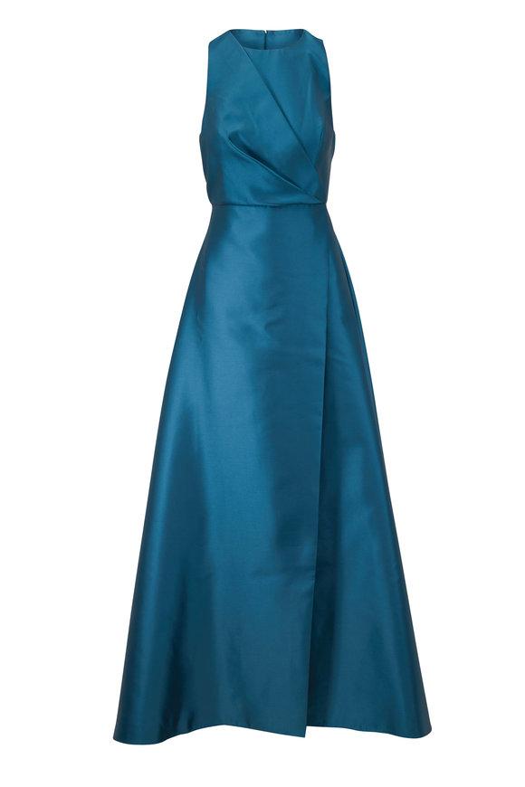 Sachin + Babi Jesse Teal Blue Sleeveless Gown