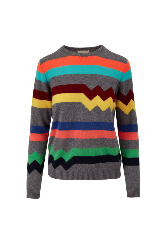 Jumper 1234 Electric Stripe Cashmere Crewneck Sweater