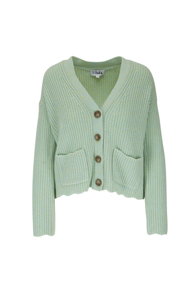 &Isla - Emani Lime Wool & Cashmere Cardigan