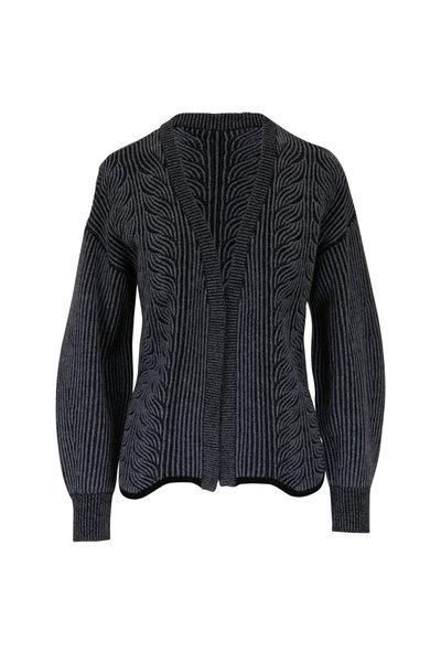 &Isla - Frankie Black & Gray Wave Knit Cardigan