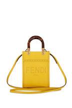 Fendi - Sunshine Yellow/Gold Leather Mini Shopper