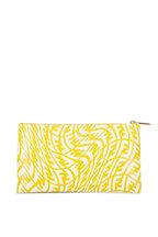 Fendi - Yellow & White Vertigo FF Flat Pouch