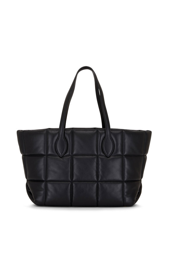 Khaite Florence Black Quilted Leather Tote