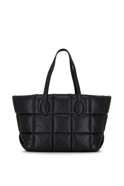 Khaite - Florence Black Quilted Leather Tote