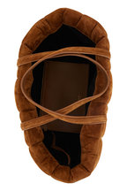 Khaite - Florence Caramel Quilted Suede Tote