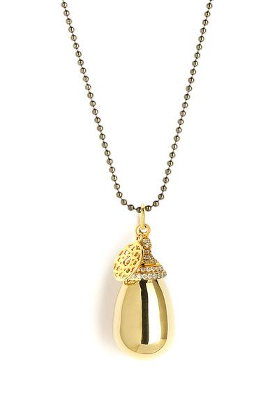 Syna - Small Drop Pavé-Set Diamond Pendant