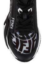 Fendi - Flow Black & White FF Side Zip Sneaker