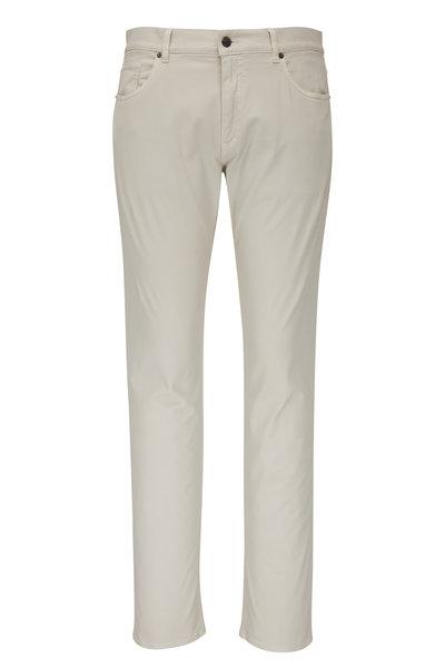 Ermenegildo Zegna - JS01 Stone Stretch Cotton Five Pocket Pant