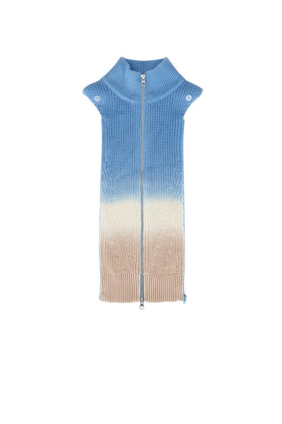 Veronica Beard Runi Tie-Dye Knit Dickey