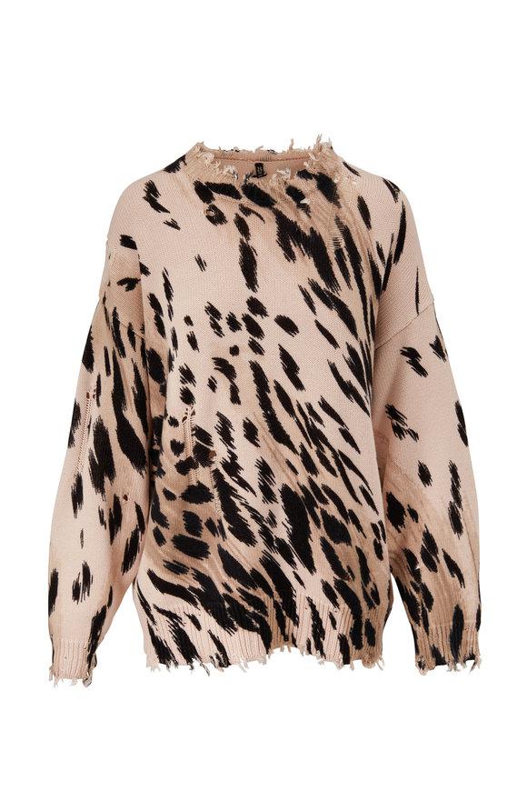 R13 Cheetah Print Oversized Sweater