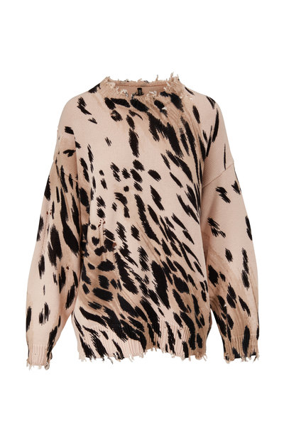 R13 - Cheetah Print Oversized Sweater