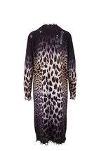 R13 - Faded Leopard Long Cardigan
