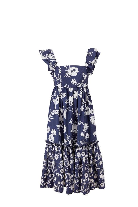 Cara Cara Darby Navy Floral Poplin Dress