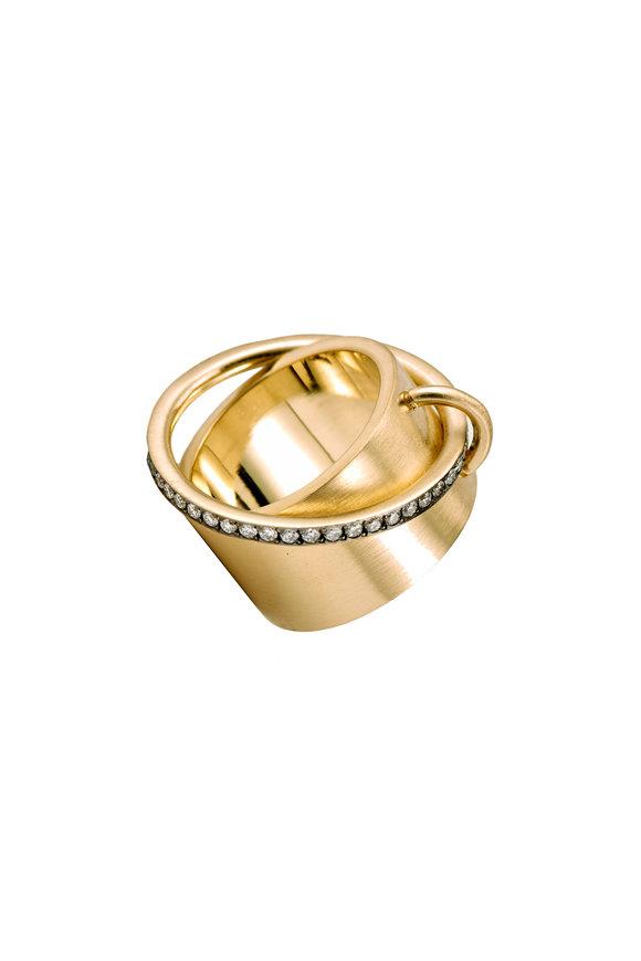 Sylva & Cie Rose Gold Satellite Diamond Band Ring